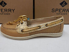 SPERRY TOP SIDER WOMENS BOAT SHOES FIREFISH PYTHON LINEN SIZE 9