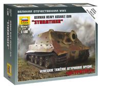 Zvezda 6205 - 1/100 wargame addon German Heavy Assault Gun tempesta Tiger-NUOVO