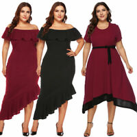Women plus size off shoulder Dresses bodycon party cocktail dress oversized
