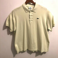 Lacoste Mens Crocodile Short Sleeve Lime Green Polo Shirt Sz 7 XL Tennis