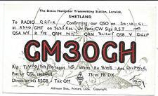 SCOTLAND - LERWICK, SHETLAND 1961 QSL Radio Confirmation Card GM30GH
