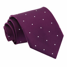 Purple Mens Tie Woven Pin Dot Dotted Formal Classic Standard Necktie by DQT