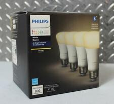 PHILIPS HUE A19 WHITE BLUETOOTH SMART LIGHT BULB 4-PACK 476977