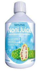 Organic NONI JUICE 500ml, Raw, Unpasteurised, Micro-Filtered, No Preservatives