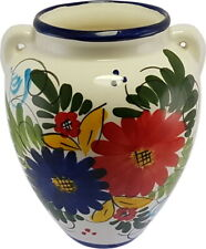 Large Spanish Hanging Urn Wall Pot 22 cm x 19 cm Handmade Ceramic Pottery
