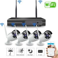 4CH Wireless 1080P NVR Outdoor IR 720P IP WIFI Camera CCTV Security System-Video