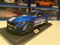 2020 FORD MUSTANG SHELBY GT500 - Blue 1/18 scale Maisto Special Edition - New