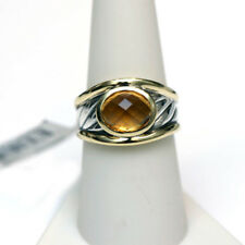DAVID YURMAN NEW Sculpted Cable 18K Gold  Sterling Silver & Citrine Ring 8.25