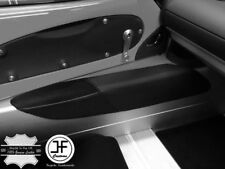 BLACK STITCH 2X DOOR SILL REAL LEATHER & SUEDE COVERS FOR LOTUS ELISE EXIGE S1