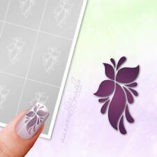 Schablonen für Airbrush und Nailart F248 Floral Blume Ranke Ornament 80x klebend