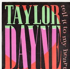 """Taylor Dayne - Tell It To My Heart 7"""" Single 1987"""