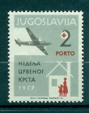 CROCE ROSSA - RED CROSS YUGOSLAVIA 1957 Postage Due Charity Stamp