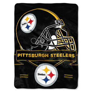 60x80 IN PITTSBURGH STEELERS NFL SOFT COZY SPORTS THROW BLANKET TWIN / FULL SIZE