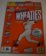 Original 1998 Wheaties MARK MCGWIRE 70 Home Runs Cereal Box (Flat)