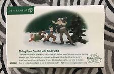 Dept 56 Dickens Village Sliding Down Cornhill with Bob Crachit #58528