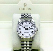 Rolex 36MM Jubilee Datejust Watch 18K Gold/Stainless Ref # 16234 Factory Dial