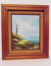 Brian Roche - Lighthouse - Oil Painting - Signed - Professionally Framed - 15x13