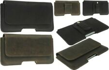 PIANO WAIST POUCH CASE  MADE OF GENUINE LEATHER WITH CLIP AND LOOP FOR PHONES
