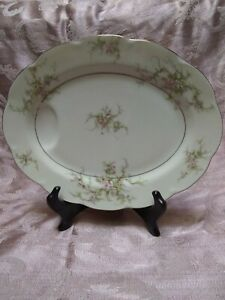 "Theodore Haviland New York Apple Blossom 14"" Oval Serving Platter"