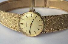 Omega 9ct Gold Bracelet Watch Ladies. Long Bracelet