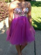 Juniors Night Moves Prom Dress, Formal, Party, Pink Size 6