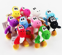 10pcs Super mario bros yoshi Stuffed plush toy figure Doll Keychain pendant Set