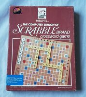 """Scrabble Crossword Game IBM PC, XT Game on 3.5"""" and 5.25"""" disk Complete in Box"""