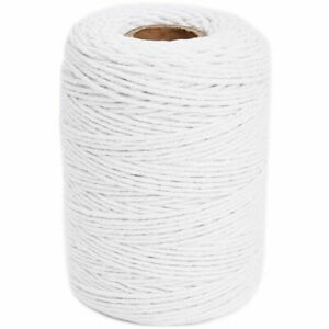 "200 Yards Cotton White Twine String 0.8"" for DIY Crafts Gift Packing Gardening"