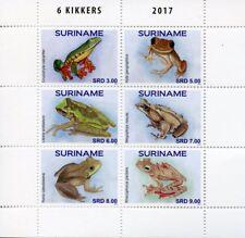 Suriname 2017 MNH Frogs Frog Kikkers 6v M/S Amphibians Stamps