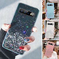 Samsung Galaxy S10+ Note 10 Plus Phone Case Soft Bling Glitter Cover for Girls