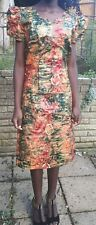 Tye & Dye African 100% Soft Cotton fabric Blouse and Skirt