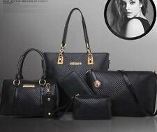 6 Teilig Taschen  PU Handtasche Schultertasche Umhängetasche Set