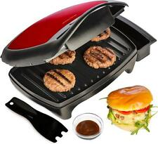 Andrew James Red Dual Plate Contact Grill Press Health Griddle Sandwich Maker
