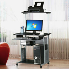 Computer Desk PC Table With Shelves Home Office W/ Printer Shelf Stand Study