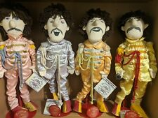 """The Beatles Applause Sgt. Pepper 22"""" DOLLS Figures w/Stands"""