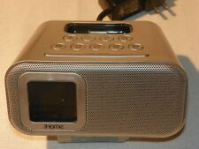 iHome Silver iH22 iPod iPhone Alarm Clock Speaker Compatible Docking Station AI