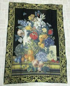Wall Hanging Tapestry Flowers Tapisseries du Lion Flowers Fleurs France NIP