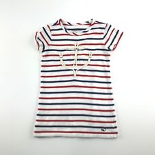 Vineyard Vines Baby Girls Red White Blue Striped Anchor July 4th Summer Dress 2T