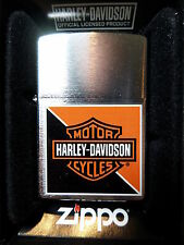 "Zippo ""Harley Davidson - Naranja & Black"" - NUEVO Y EMB. orig. - #347"