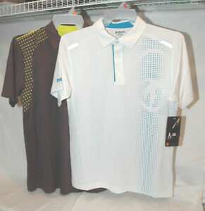 And1 Performance Polos Shirt Basketball Golf Gray or White S M L XL or  2XL NEW