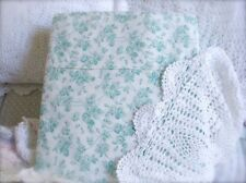 Shabby Cottage Roses Ocean Aqua Green Chic Twin Bed Quilt Cover Doona Duvet Nw