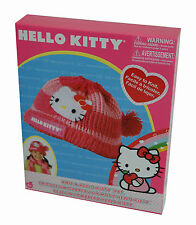 Hello Kitty Hat Wool Girls Knitting Set Craft Kit Fashion Accessory Pink 27x22cm