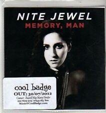 (CW681) Nite Jewel, Memory Man - 2012 DJ CD