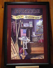 1909-2009 EVINRUDE 100th Yr Anniversary Poster Outboard Boat vTg RowBoat MoToR