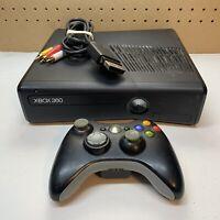 Microsoft Xbox 360 S Model 1439 Black Console+320 GB HD + A/V Cord + Controller