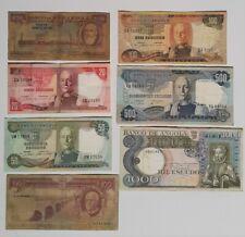 Lot of 7ANGOLA  Banknotes ex Portugal Portuguese Colonies V F/ F