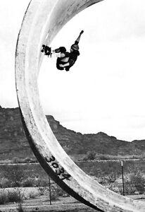 Tony Alva Poster, Skateboarding, Skating Full Pipe, Z Boys, California