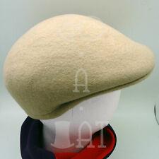 FASHION Wool Felt Men Ivy Hat Newsboy Cabbie Ascot Irish Cap NEW | 55cm | Beige