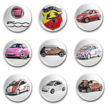 25mm  BUTTON BADGES X9 NEW FIAT 500