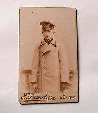Antique Rare Photo Youth in Military uniform 1886-1896s